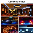 2 * 5M 5050 RGB Led Strip Lights Kit com 44key IR 12V 6A Fonte de Alimentação