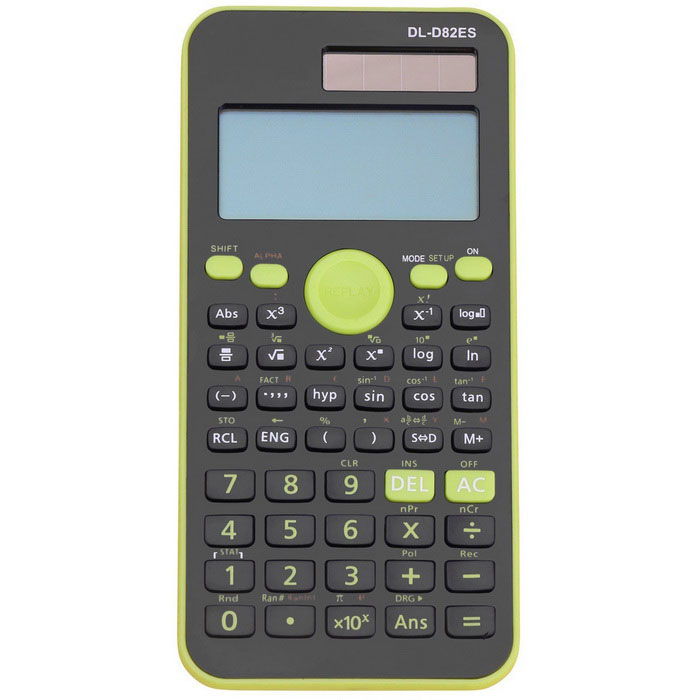 DL-D82ES Fashion Multifunctional Scientific Function Calculator -Green