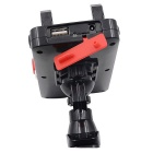 CS-476A1 12V Motorcycle Cell Phone Holder with Charger - Red + Black
