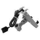 CS-476B1 Electric Vehicle Handbar Phone Holder w/ Charger - Grey