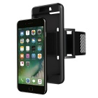 2-in-1 Sport Running Armband + Silicone Case for IPHONE 7 Plus - Black