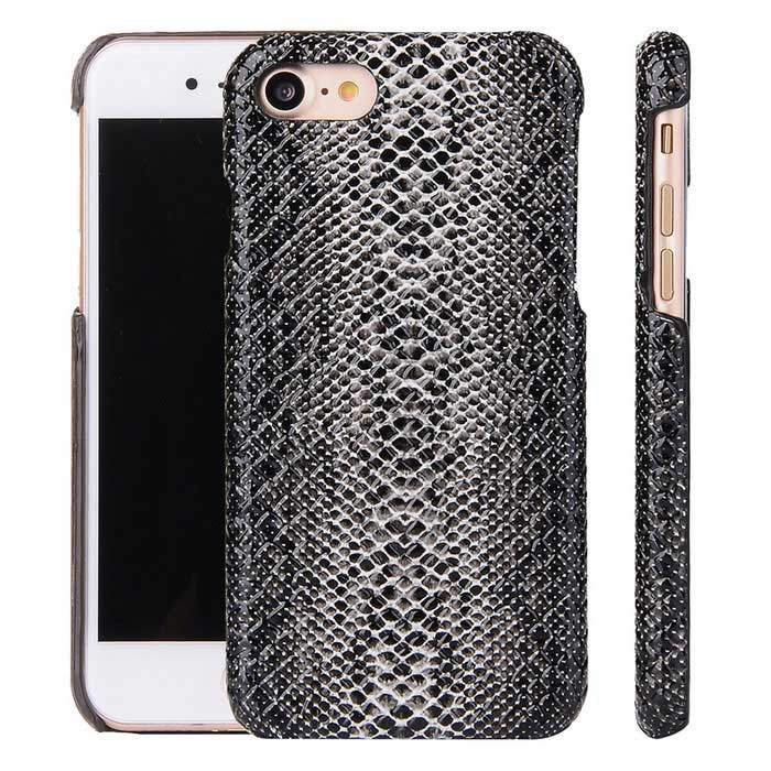 Protective PC Hard Back Case Cover for IPHONE 7 - Black + Grey