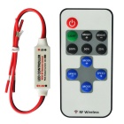 Jiawem LED RF Wireless Remote Control for Single Color Strip LED Light