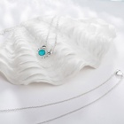 SILVERAGE Maldives Blue Crab and Heart Layered Necklace