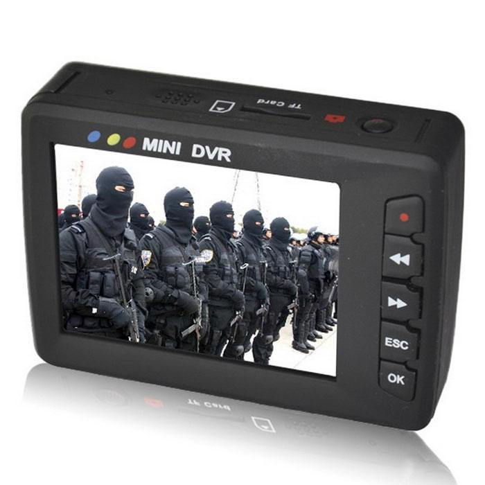 Portable Mini Video Upgraded Angel Eyes AV Output Car DVR - Black