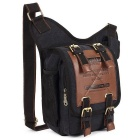 KAUKKO FH03 Vintage 5L Male Messenger Bag Crossbody Sling Bag - Black