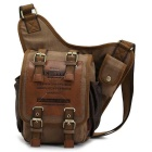 KAUKKO FH03 Vintage 5L Male Messenger Bag Crossbody Sling Pack - Khaki