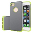 Premium Dual Layer PC + TPU Case for IPHONE 7 - Gray + Green