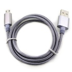 Micro USB 2.0 to USB Charging Cable for Android Phones - Dark Gray