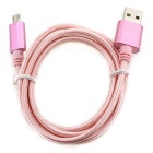 Micro USB 2.0 to USB Charging Cable for Android Phones - Pink (1m)