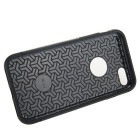 prima de la capa doble de PC + TPU para IPHONE 7 - negro