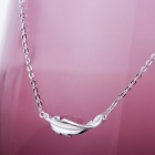 SILVERAGE Feather Pendant Necklace - Silver