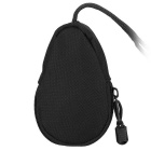 FURA Oxford Fabric Coin Purse Key Bag with Lanyard - Black