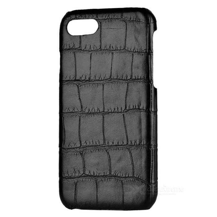 Protective Crocodile Skin Pattern Back Case for IPHONE 7 - Black