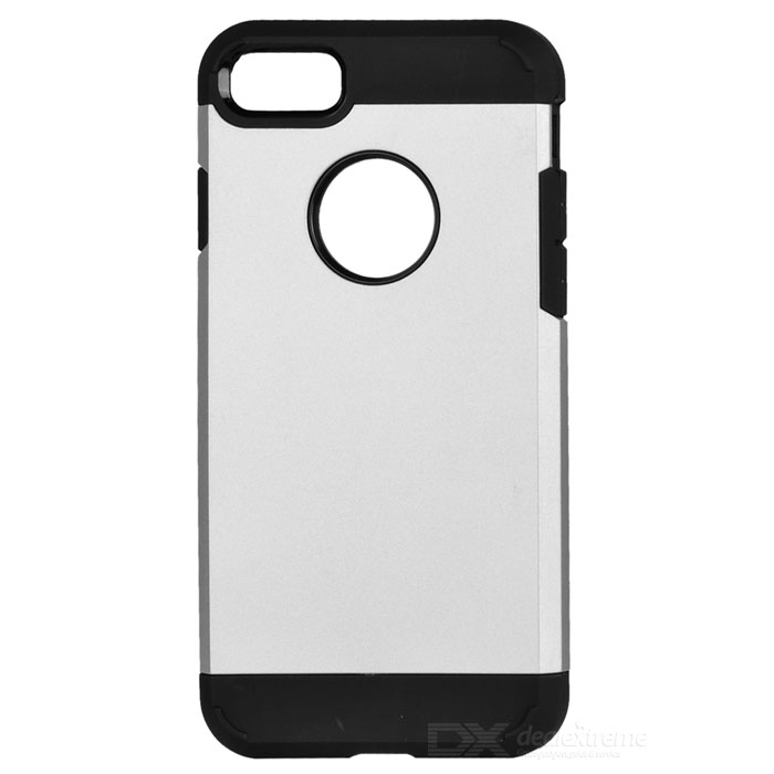Protective TPU + PC Back Cases for IPHONE 7 - Silver + Black