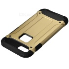 Protective TPU + PC Back Cases for IPHONE 7 - Golden + Black