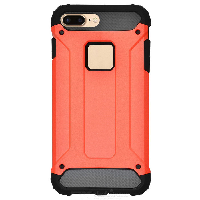 2 - en-1 + TPU protector caso para IPHONE PC 7 PLUS - rojo + negro