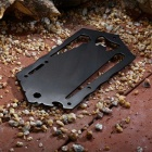 Outdoor Portable Stainless Steel Multifunctional Tool Card - Black
