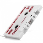 Car Audio Cassette Adapter for MP3/ Cellphones - White (3.5mm Jack)