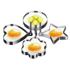 4-Style Stainless Steel Omelette Egg Ring Pancake Mold