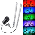 luz de la bicicleta multicolor impermeable 24 LED-caliente de la rueda mágica luz de advertencia