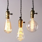Vintage Hanging Pendant Light Fixture Triple Sockets with Switch