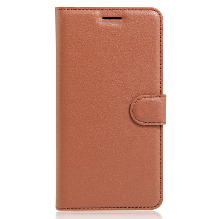 Lichee Pattern Protective Case for  Wiko U Feel - BrownLeather Cases<br>Form ColorBrownModel001MaterialPUQuantity1 DX.PCM.Model.AttributeModel.UnitShade Of ColorBrownCompatible ModelsWiko U FeelFeaturesDust-proof,Shock-proof,Easy-to-remove,Holder functionPacking List1*Case<br>