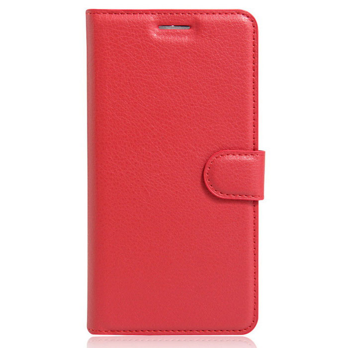 Lichee Pattern Protective Case for  Wiko U Feel - Red