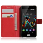 Lichee Pattern Protective Case for  Wiko Tommy - Red