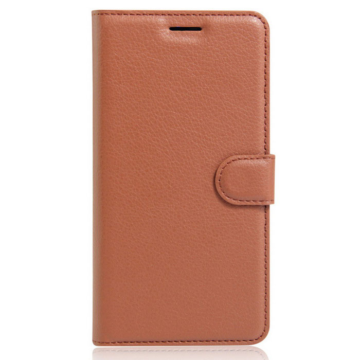 Lichee Pattern Protective Case for  Wiko Tommy - Brown