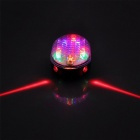 8-LED 2 Laser 7- Mode Bicycle Laser Tail Light - Black + White