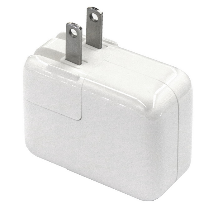 Dual USB AC 110-240V 3.1A  US Plug Charger / Fast Charger - White
