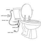 Hand Held Toilet Bathroom Bidet Shower Head Spray Sprayer - Black