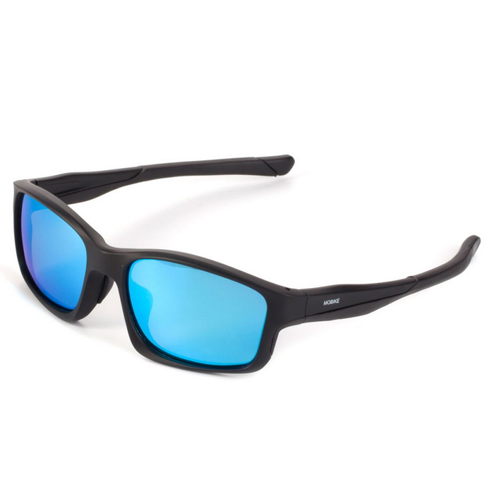 WG9252 Unisex Outdoor Lightweight Polarized Sunglasses - Blue + Black