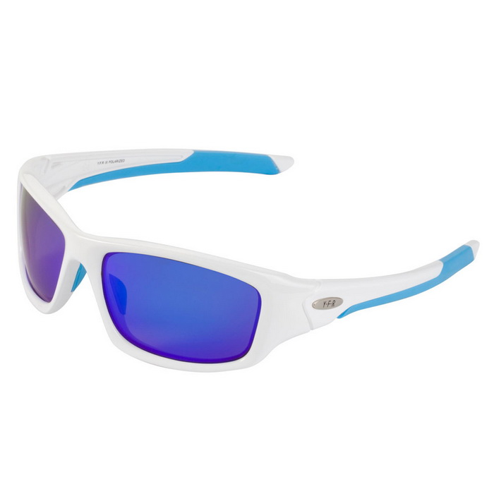 YF5009 Lightweight TR90 Frame Polarized Sunglasses - Blue + White