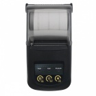 Portable Mini 58mm Bluetooth Thermal Printer - Black (EU Plug)