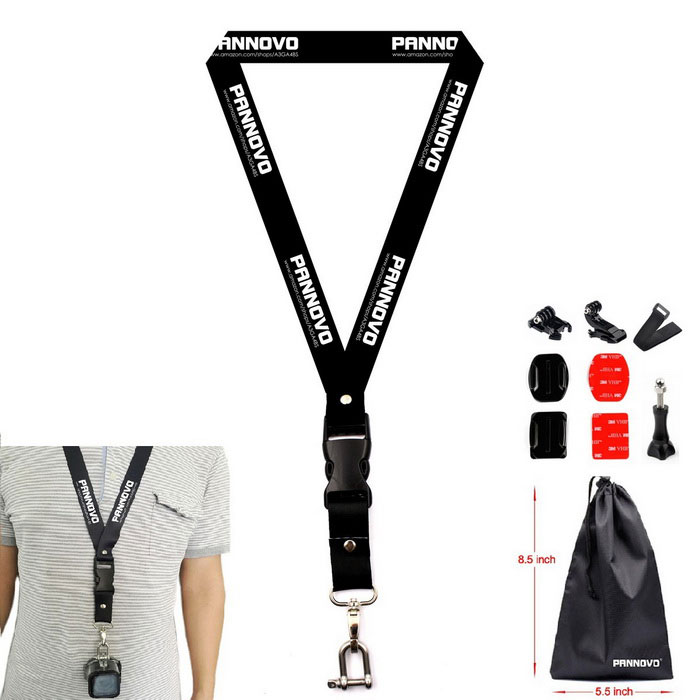 PANNOVO Chest Neck Lanyard Strap Mount for GoPro HERO 4 Session 3 3+ 4