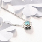 SILVERAGE Four Leaf Clover Pendant Necklace