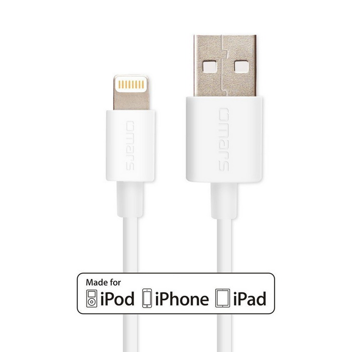 omars IMF 3 pies rayo 8pin a SYNC cable del cargador cable USB - blanco