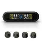 PERSHN T5-WF Solar Power Tire Pressure Monitor System - Black