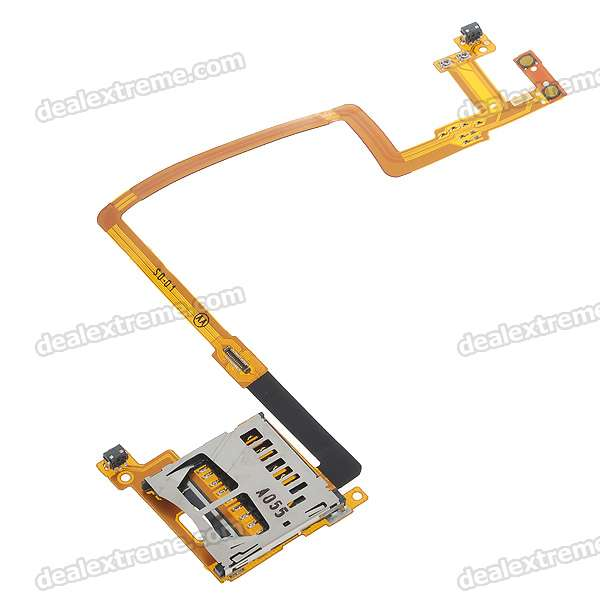 Repair Parts Replacement SD Card Slot Socket with Ribbon Cable for NDSi repair parts replacement game cart slot for ndsi dsi