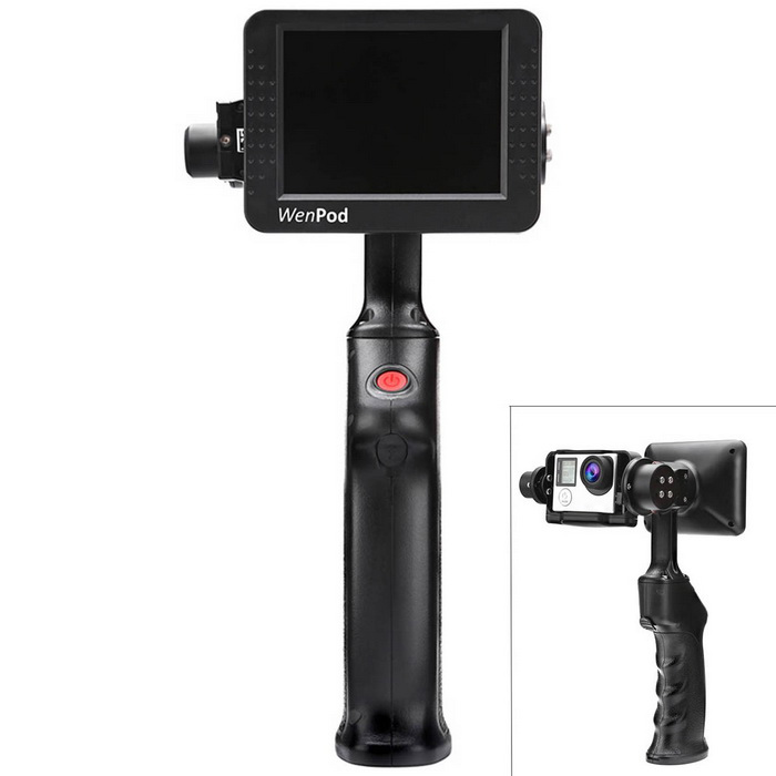 WenPod GP1+ Handheld Steady Camera Gimbal for Gopro Hero 3, 3+, 4Other Accessories<br>Form ColorBlackMaterialABSQuantity1 DX.PCM.Model.AttributeModel.UnitCompatible BrandUniversalCompatible ModelGopro hero 3 3+ 4CertificationCEPacking List1 * GP1+ handheld gimbal (with 3.5 Inch display) 1 * Rechargeable Lithium-ion battery (11.1V 800mAh)1 * Charger (input: 100-240V 0.5A max; output: 13.5V 1A; length of 118cm)1 * US plug adapter1 * UK plug adapter1 * English instruction 1 * Warranty card<br>