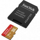 Sandisk SDSDQX-016G 16GB MicroSD With SD Adapter