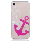 Anchor Pattern TPU Protective Back Case for IPHONE 7 - Transparent