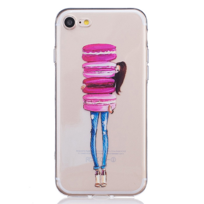 Cake Girl Pattern TPU Protective Back Case for IPHONE 7 - TransparentTPU Cases<br>Form ColorTransparent (Cake Girl)ModelN/AQuantity1 DX.PCM.Model.AttributeModel.UnitMaterialTPUCompatible ModelsiPhone 7DesignTransparent,GraphicStyleBack CasesPacking List1 x case<br>