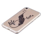 Life Love Pattern TPU Protective Back Case for IPHONE 7 - Transparent