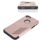 Dual Layer PC + TPU Case for iPhone 7 - Black + Rose Golden