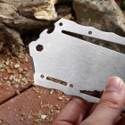 Outdoor Portable Stainless Steel Multifunctional Tool Card - Silver