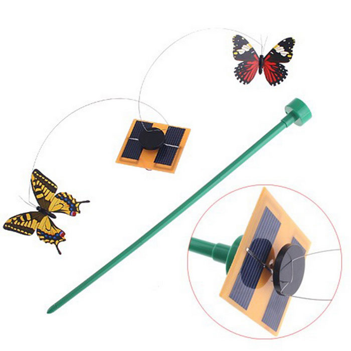 Solar Powered Flying Butterfly Garden Yard Decoration - Green