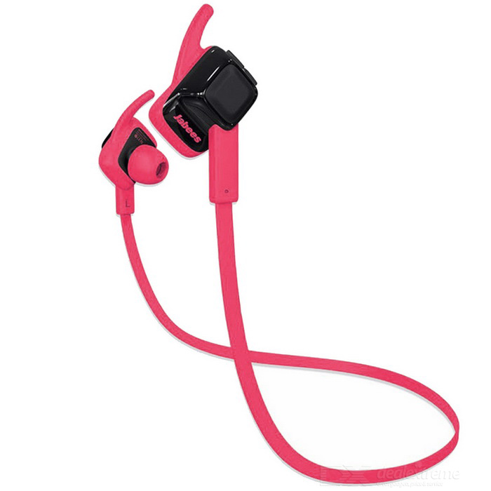 Jabees Waterproof In-Ear Sports Bluetooth Headset - Preto + Rosa